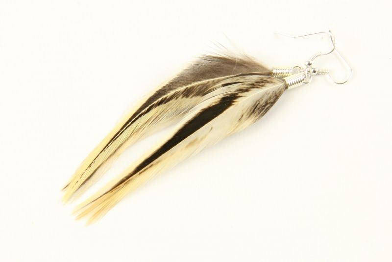 Hackle Feather Earrings  thumbnail - 8