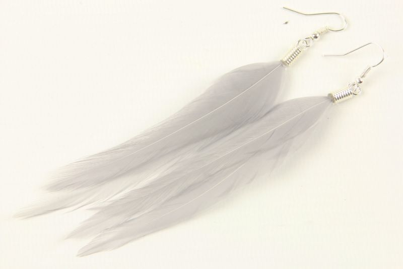 Hackle Feather Earrings  thumbnail - 6