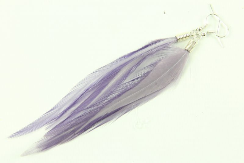 Hackle Feather Earrings  thumbnail - 2
