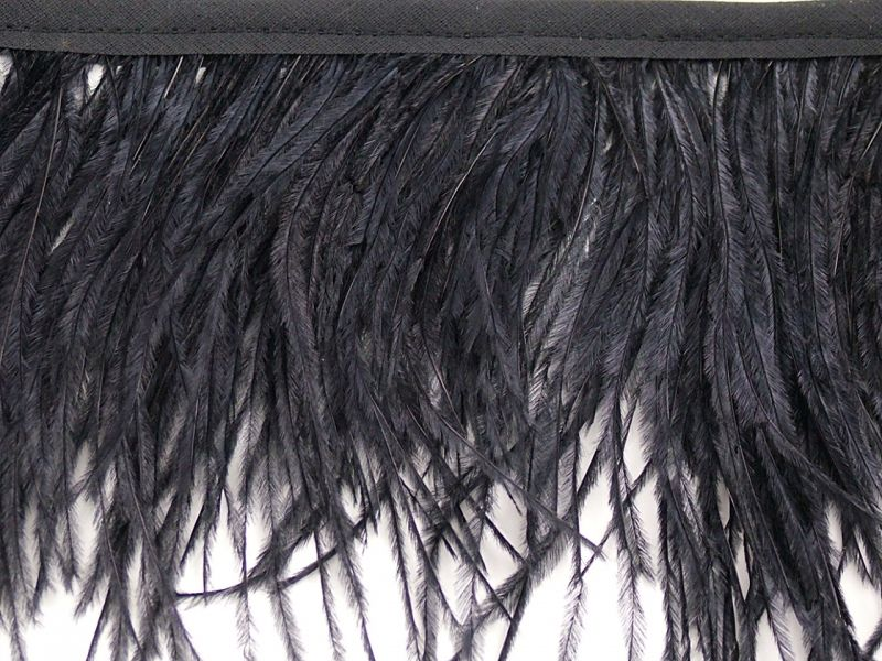 Special Offer Black Ostrich Fringe 2 Ply (5 metre) 1