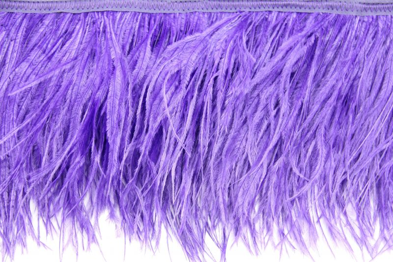Special Offer Purple 4 Ply Ostrich Fringe (1 metre) 1