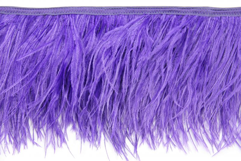 Special Offer Purple 4 Ply Ostrich Fringe (1 metre) 2