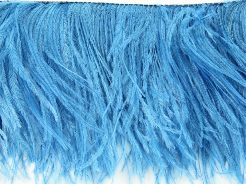 Special Offer 3 Ply Deep Turquoise Ostrich Fringe  (1 metre) 1