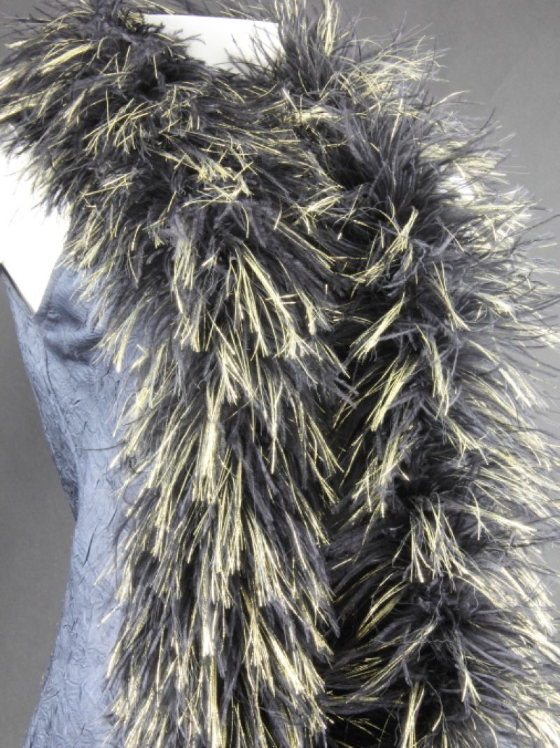 Lurex and Ostrich Feather Boa 2