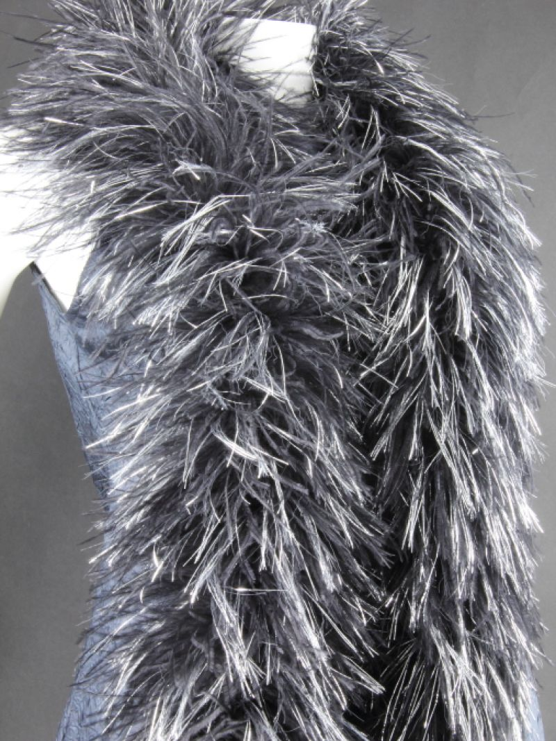 Lurex and Ostrich Feather Boa 3