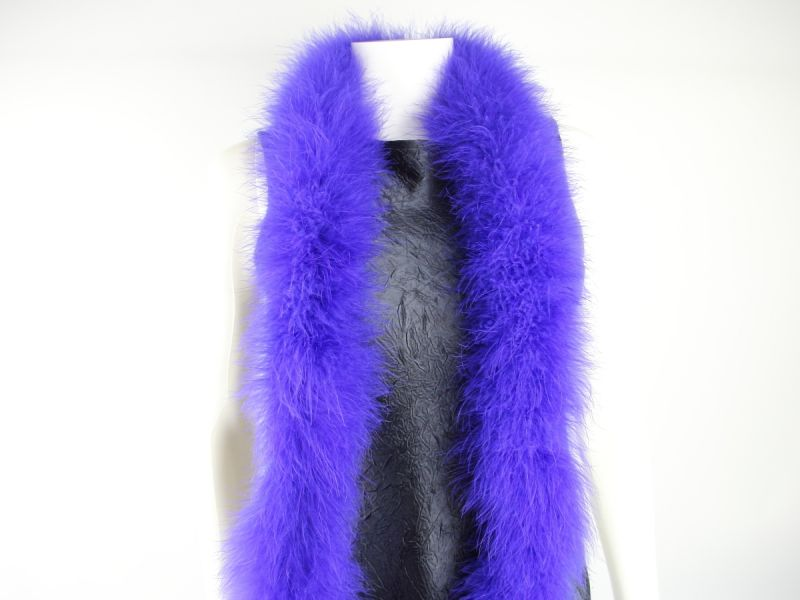 Special Offer Royal Blue Marabout feather Boa  1