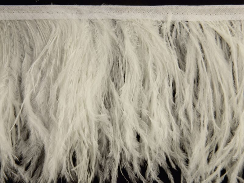 Special Offer Natural White Delicate Ostrich Fringe (1 metre). 1