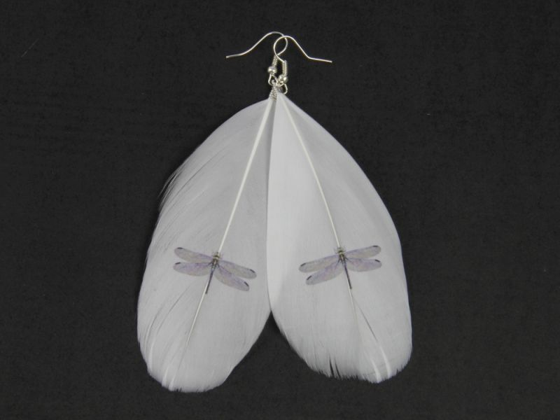 Dragonfly Feather Earring  1