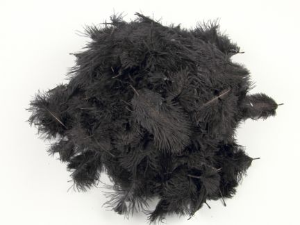 Special Offer Black Baby Ostrich Feathers (50g pack)