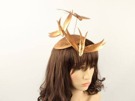 Bronze Trio Feather Fascinator