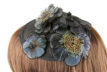Salient Feather Flower Fascinator