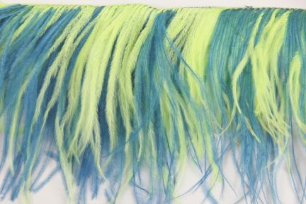 Special Offer 2 Ply Turquoise and Tropic Ostrich Feather Fringe (1 metre)