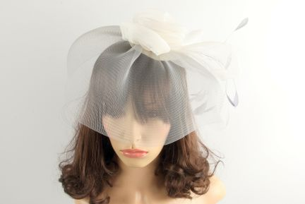 Selenite Feather Fascinator