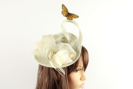 Secret Garden Feather Fascinator