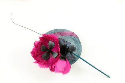 Fantasia Feather Flower Fascinator