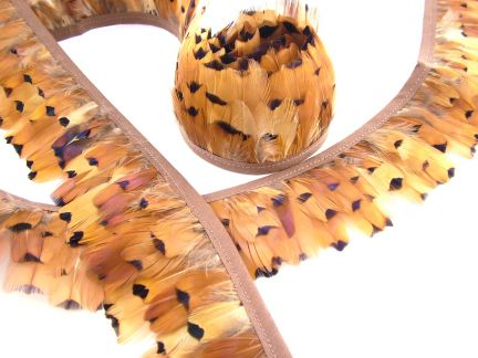 Pheasant Gold Side Feather Fringe
