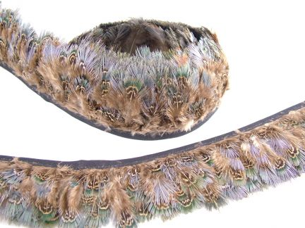 Green Pheasant Feather Fringe