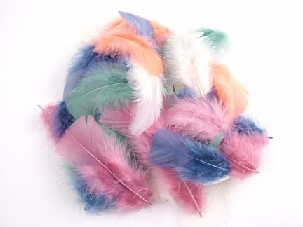 Turkey Coquille Craft Feathers (20g Pack) - Fantasy Mix