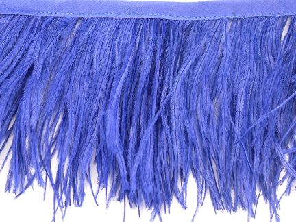 Special Offer 2 Ply Sapphire Ostrich Fringe (1 Metre)