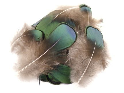 Lady Amherst Green Plumage feathers (1g Pack)