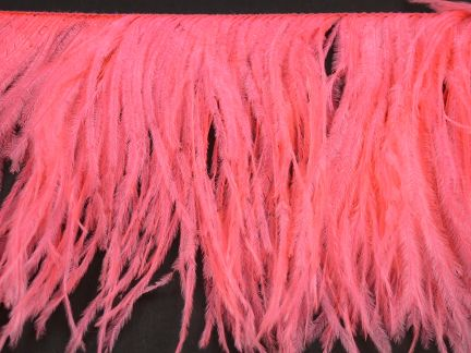 Special Offer 2 Ply Salmon Ostrich Fringe  (1 metre)