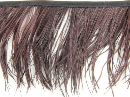 Special Offer Chocolate Delicate Ostrich Fringe (1 metre)