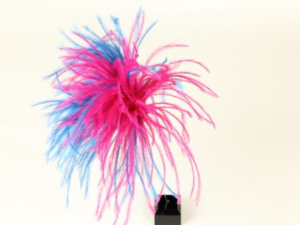 Ostrich Feather Duo Hat Pin