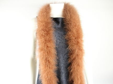 Special Offer Toffee Marabout Feather Boa