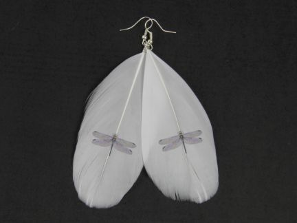 Dragonfly Feather Earring 2