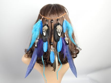 Turquoise Feather Festival Headband